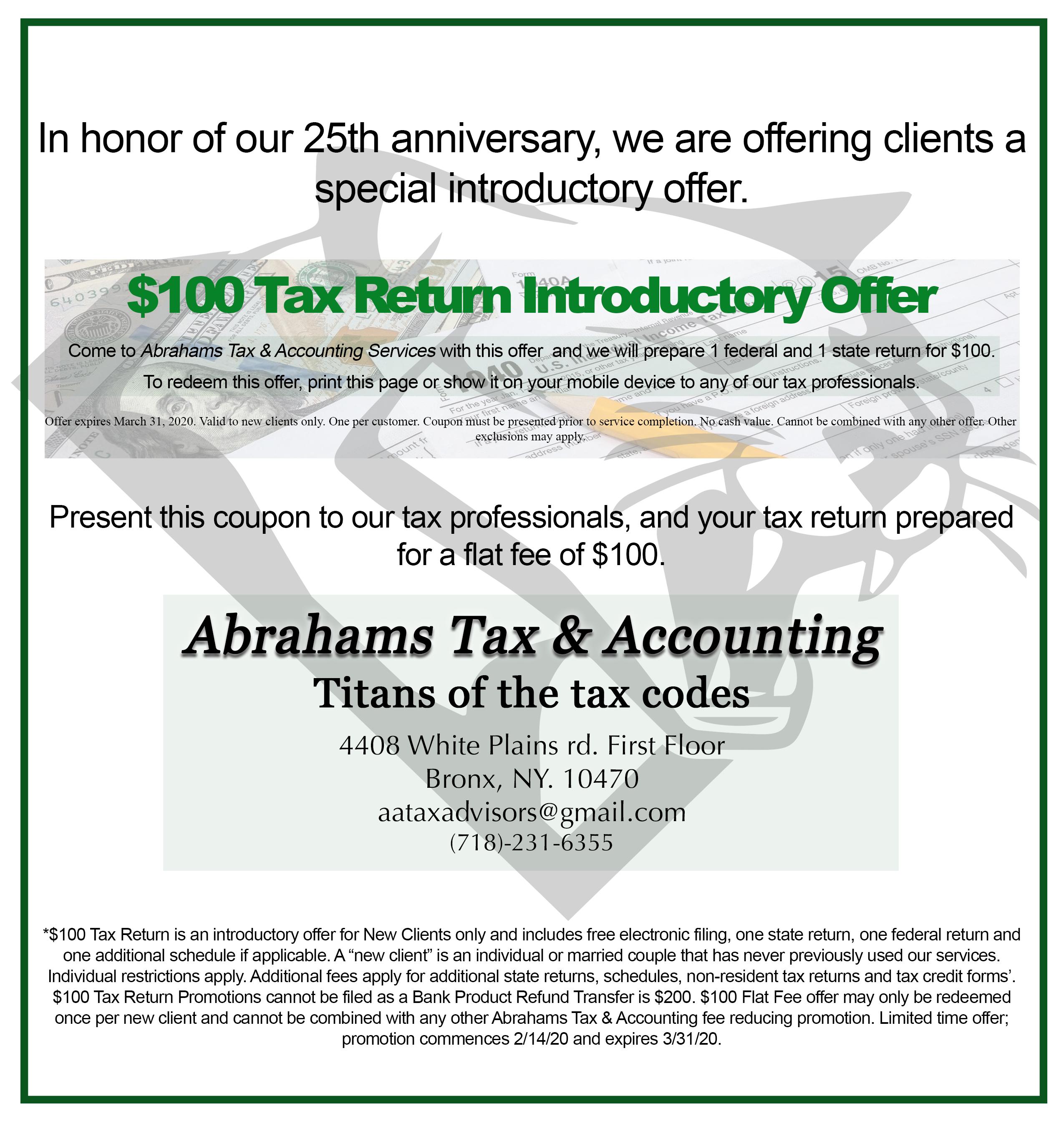 Tax preparation services in White Plains, Bronx, New York